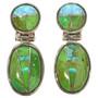 Gaspeite Opal Necklace Earrings Set 29679