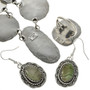 Hammered Sterling Turquoise Jewelry  15019