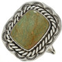 Green Turquoise Navajo Ring 15019