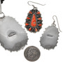 Southwest Hammered Silver Necklace Set 29626