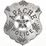 Apache Indian Silver Police Badge 29010