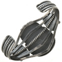 Hammered Sterling Silver cuff Bracelet 28632