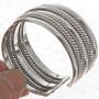 Wide Silver Bracelet 24143