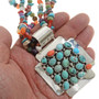 American Indian Turquoise Cluster Pendant 11729