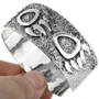Overlaid Textured Sterling Indian Bracelet 20325