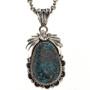 Navajo Turquoise Silver Pendant 29434