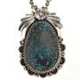 Genuine Turquoise Silver Pendant 29434