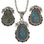 Navajo Bisbee II Turquoise Pendants 29434