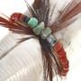 Turquoise Coral Southwest Horse Fetish 17300