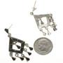 Zuni Style Inlaid Earrings 12495