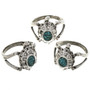 Pretty Turquoise Turtle Rings 29283