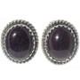 Charoite Silver Navajo Stud Earrings 28451