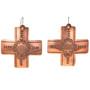 Native American Copper Cross Earrings 22367