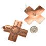 Hammered Copper Cross Navajo Earrings 22367