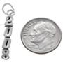 Sterling Silver 2008 Vertical Charm Bracelet Charm Pendant Necklace