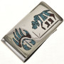 Turquoise Coral Bear Money Clip 18157