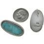 Turquoise Silver Twist Wire Earrings 28529