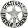 Lincoln County Constable Badge 29200