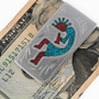 Inlaid Turquoise Coral Money Clip 21038
