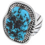 Navajo Mens Turquoise Ring 24982