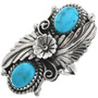 Native American Kingman Turquoise Ring 26996
