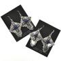 Native American Hammered Silver Earrings 28853
