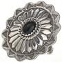 Black Onyx Silver Concho Ring 28947