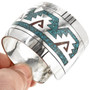 Turquoise Coral Chip Inlay Bracelet 28881