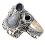 Ladies Sterling Saddle Ring 15786