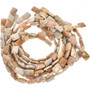 14mm x 18mm Fossil Coral Beads 16 inch Long Strand