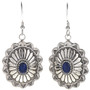 Lapis Silver Concho Earrings  28938
