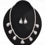 Crazy Horse Howlite Silver Necklace Set 29627