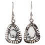 Southwest Sterling French Hook Earrings 29627