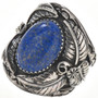 Denim Lapis Silver Mens Ring 28958