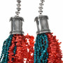 Coral Turquoise Native American Necklace 10683