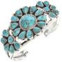 Genuine Turquoise Silver Cuff Bracelet 29753