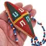 Seed Beaded Buckskin Umbilical Cord Amulet 30402