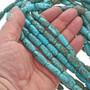 Tube Cylinder Turquoise Magnesite Beads 30858