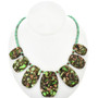 Infused Jasper Heishi Necklace 29055