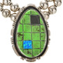 Green Gaspeite Opal Jet Necklace 29711