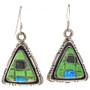 Gaspeite Sterling Dangle Earrings 29711