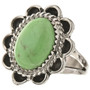 Green Turquoise Silver Ladies Ring 28615