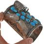 Vintage Ithaca Peak Turquoise Watch Cuff 29674