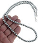 Indian Beaded Sterling Necklace 24812