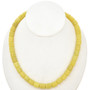 10mm Lemon Serpentine Beads 16 inch Long Strand