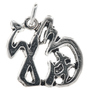 Sterling Silver Luck Charm Bracelet Pendant Necklace