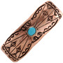 Turquoise Copper Hair Barrette 24407
