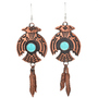 Copper Turquoise Navajo Earrings 23878