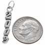 Sterling Silver 2009 Vertical Charm Bracelet Charm Pendant Necklace