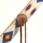 Beaded Leather Warrior Spear 28391